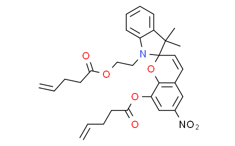 3',3'-dimethyl-6-nitro-1'-(2-(pent-4-enoyloxy)ethyl)spiro[chromene-2,2'-indolin]-8-yl pent-4-enoate